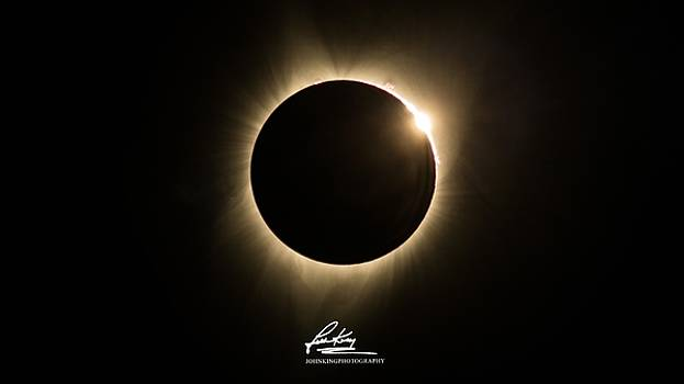 John King - Great American Eclipse 16x9 Totality Square as seen in Albany, Oregon Signature Edition.