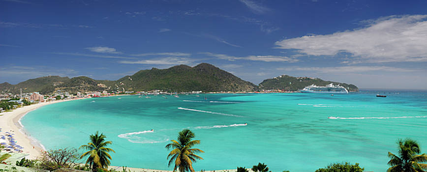 Reimar Gaertner - Great Bay Philipsburg in St Maarten Panorama
