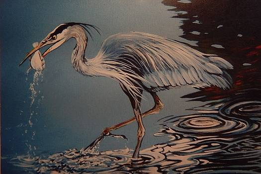 Great Blue Heron  by Catherine Robertson