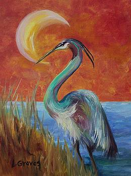 Great Blue Heron by Lisa Graves