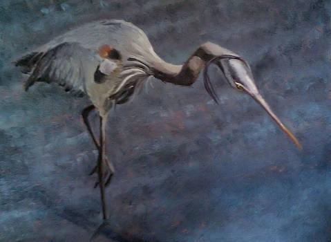 Great Blue Heron by Wendie Thompson