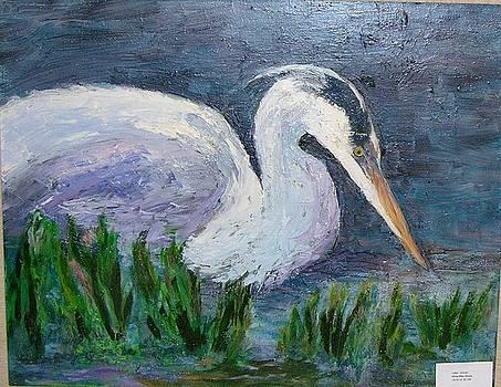 Great Blue Stalking by Albert Fendig