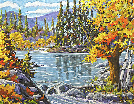 Great Canadian Lake  - Large Original Oil Painting by Richard T Pranke