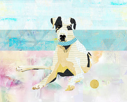 Great Dane at the beach by Claudia Schoen