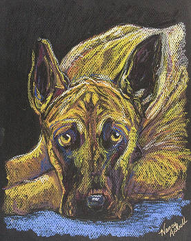 Great Dane Pastel by Michele Hollister - for Nancy Asbell
