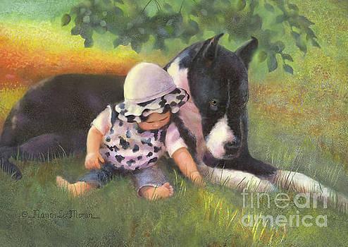 Great Dane with Baby by Nancy Lee Moran