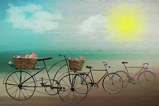 Great Day for a Bike Ride - Painting by Ericamaxine Price