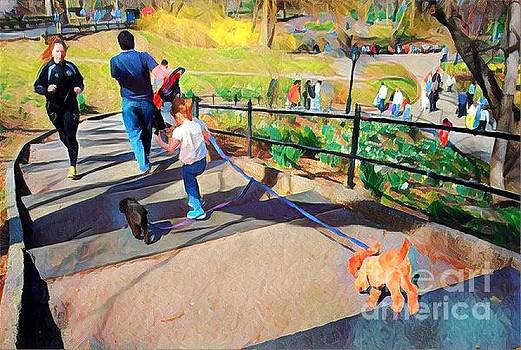 Great Day in the Park - Central Park New York by Miriam Danar