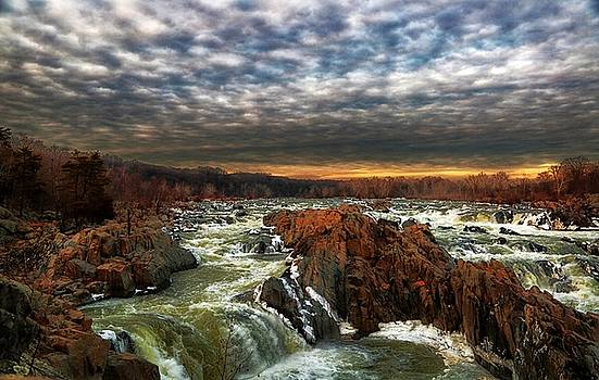 Great Falls at Winter 2 by Scott Fracasso