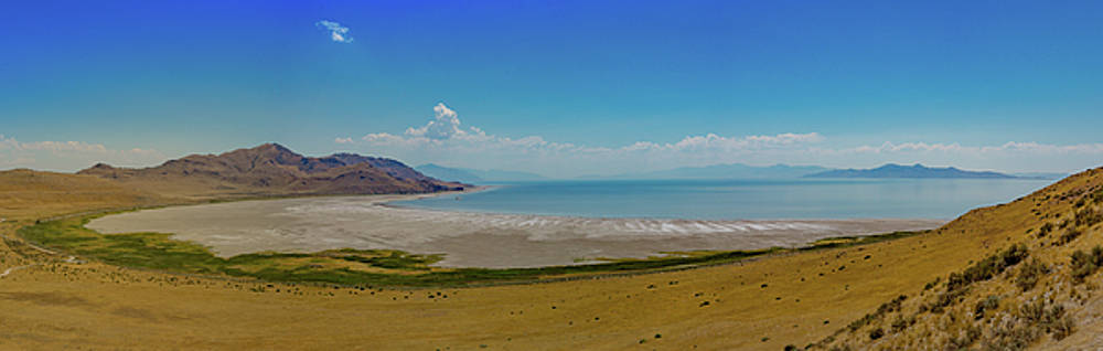 Great Salt Lake from Antelope Island Utah by Kimberly Blom-Roemer
