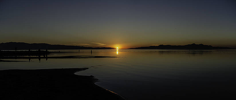 Great Salt Lake Sunset by Carl Nielsen