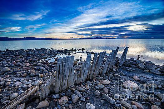 Great Salt Lake Sunset - Utah by Gary Whitton