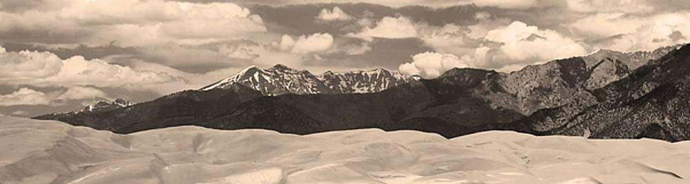 James BO  Insogna - Great Sand Dunes Panorama 1 Sepia