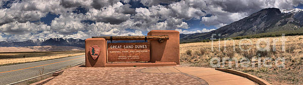 Adam Jewell - Great Sand Dunes Welcome Sign Panorama
