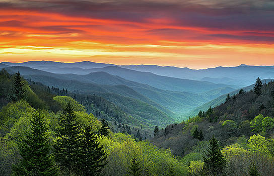 Great Smoky Mountains National Park Gatlinburg TN Scenic Landscape by Dave Allen