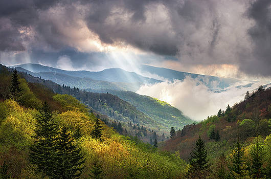 Great Smoky Mountains National Park Scenic Landscape Gatlinburg TN by Dave Allen