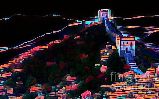 Great Wall Abstract Digital Painitng by Pd