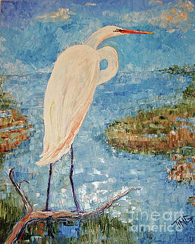 Great White Egret by Doris Blessington