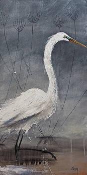 Great White Heron Original Art by Gray Artus