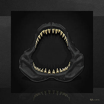 Serge Averbukh - Great White Shark Jaws with Gold Teeth