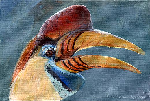 Greater Sulawesi Hornbill by Svetlana Ledneva-Schukina