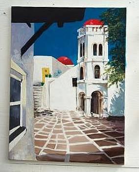 Grecian Landscape by Stan  Sternbach