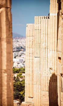 Eduardo Huelin - Greece Athens columns in Acropolis