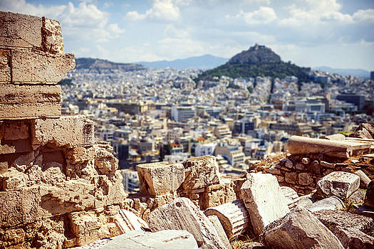 Eduardo Huelin - Greece Athens destroyed columns in Acropolis