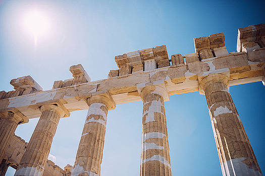 Eduardo Huelin - Greece Athens Exterior of Parthenon temple