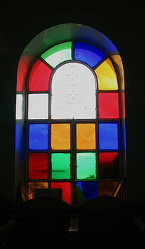 Yvonne Ayoub - Greece church stained glass window