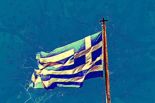 Greece Flag color splash by Renato Armignacco