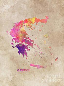 Justyna Jaszke JBJart - Greece map