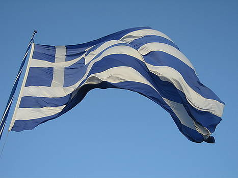 Newnow Photography By Vera Cepic - Greek flag on the wind