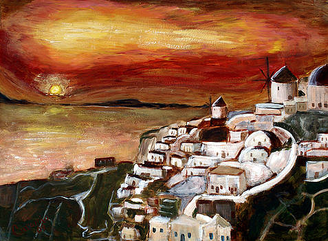 Greek Sunset by Charlotte Smith