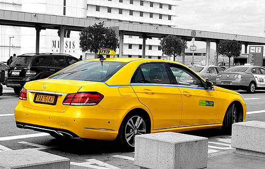 Greek Taxi Athens Airport by Eleni Michael