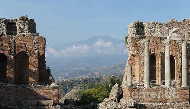 Greek theatre Taormina by Peter Skelton