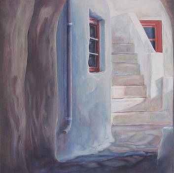 Greek Village Building  by Eve Corin
