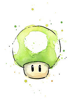 Olga Shvartsur - Green 1UP Mushroom