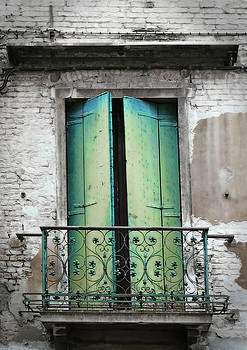 Green and Blue Balcony Door by Brooke T Ryan