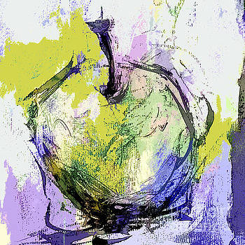 Green and Purple Apple by Tracy-Ann Marrison
