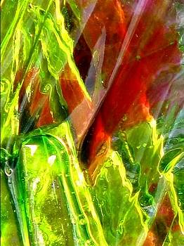 Green and Red Slices by Mary Herring