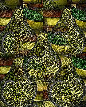 Green Anjou Pear Abstract by Terry Mulligan