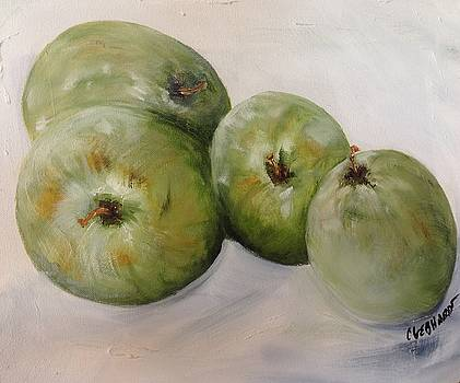 Green apples by Chuck Gebhardt