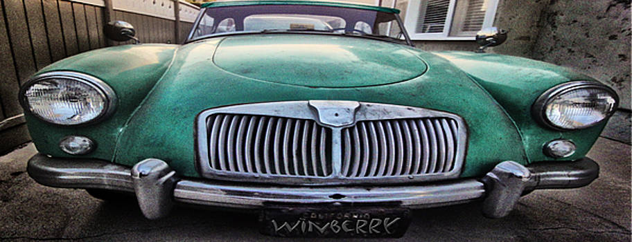 Green austin healey in Drive by Bob Winberry