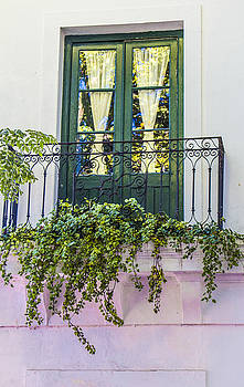 Venetia Featherstone-Witty - Green Balcony Doors, Colonia, Uruguay