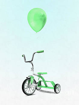 Green Balloon Green Tricycle by Edward Fielding