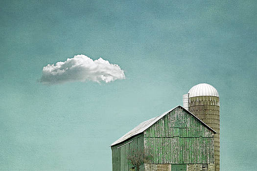 Green Barn and a Cloud by Brooke T Ryan