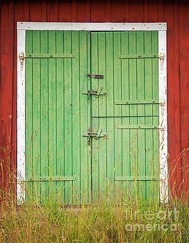 Sophie McAulay - Green barn doors