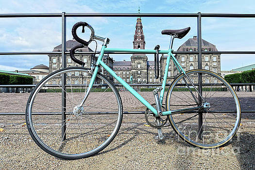 Green Bicycle at Christiansborg Palace by Catherine Sherman