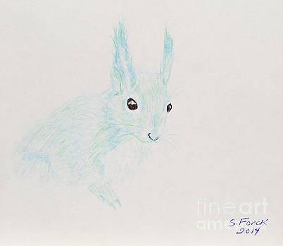 Green-blue Red Squirrel by Stefanie Forck